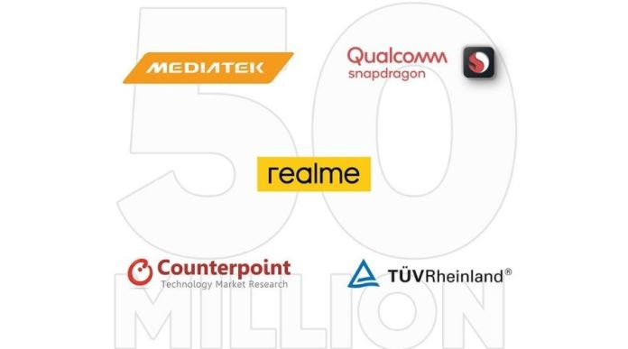 Realme '50 Million Sales Record' receives Praises from Top Industry Partners