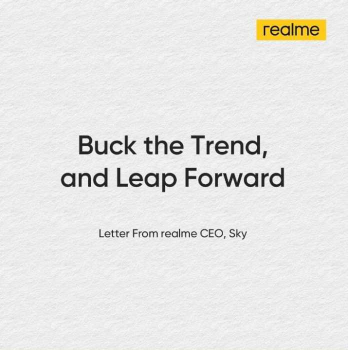 letter from realme CEO Sky