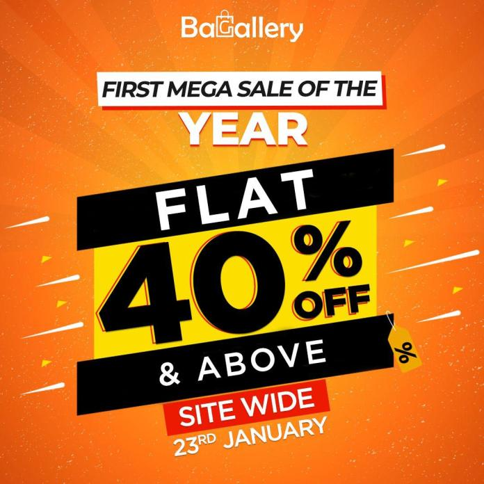 Bagallery brings the 1st Mega Sale of the Year: Flat 40% & above