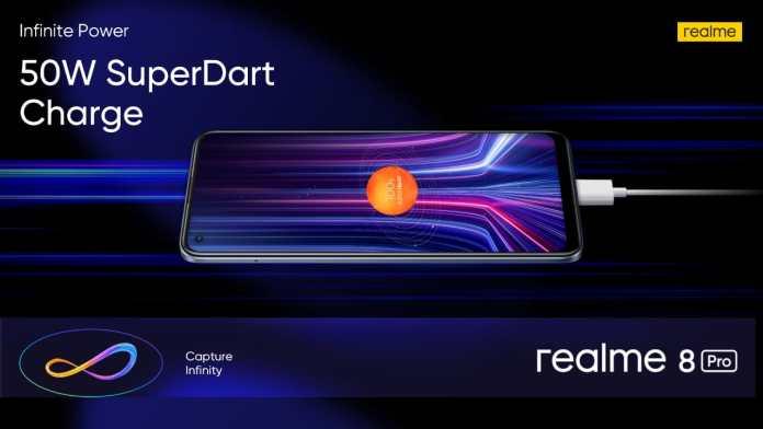realme 8 pro 50W superdart charge
