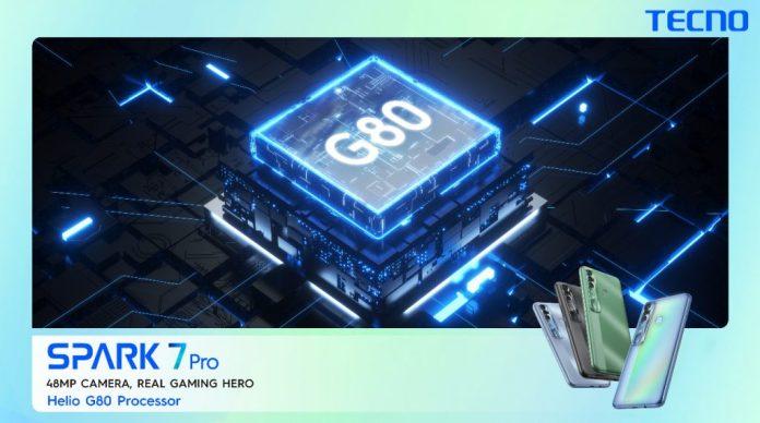 Tecno spark 7 pro MediaTek Helio G80 Processor