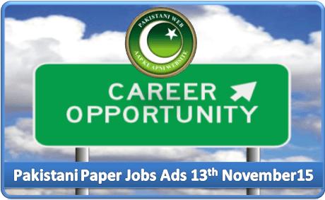 Daily Job Ads 13th November 2015