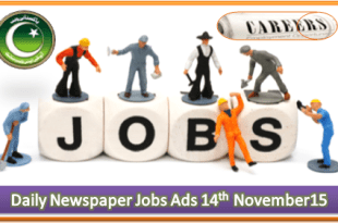 Daily Job Ads 14th November 2015