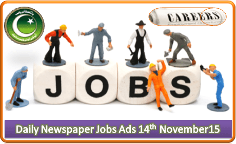 Daily Job Ads 14th November 2015