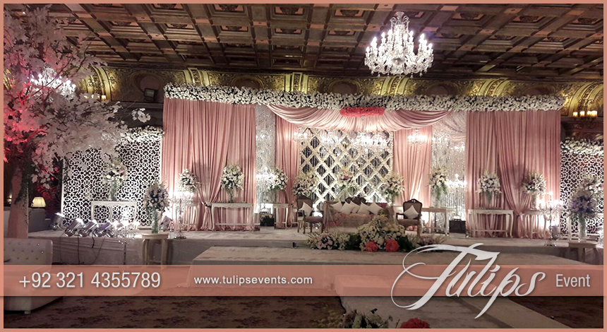 best Pakistani wedding decoration setup photos by Tulips
