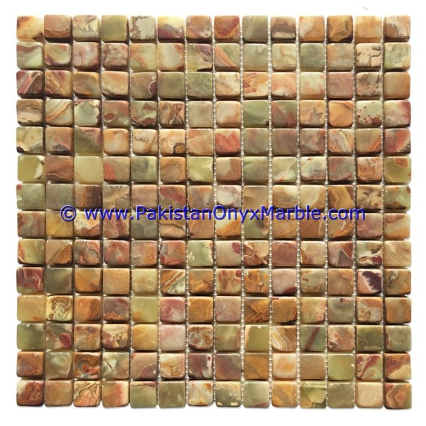Multi Green Onyx Mosaic Tile