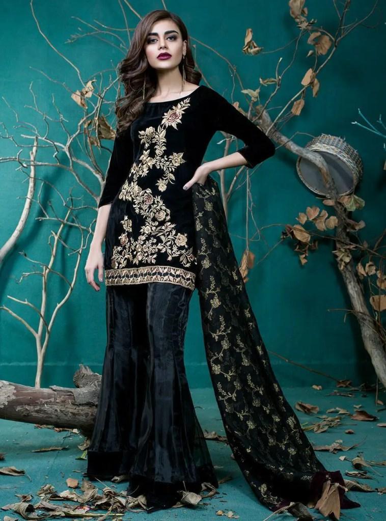 Wear this Stunning velvet dress this winter from Zainab Chottani new ...
