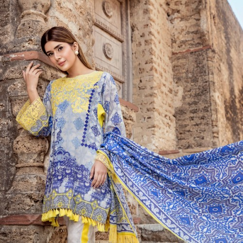 Panache Wedding Gowns: Enchanted Green Unstitched Pret 3 Piece Pakistani Dress By