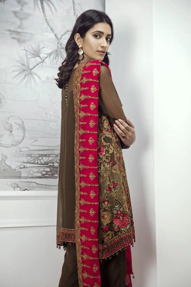 3154ac0136 Buy this beautiful chiffon jacket ready t o wear dress by Baroque Chantelle  chiffon collection 2018