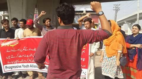 拉瓦爾·阿薩德高喊口號,聲援被殺害的學生運動家