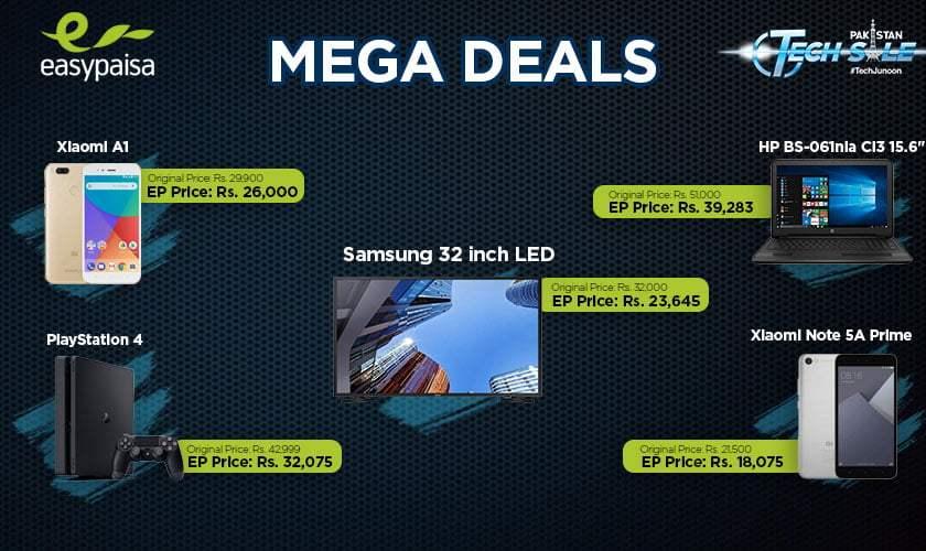 Easypaisa Mega Deals for PAkistan Day 2018