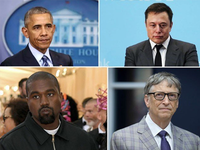 Twitter accounts of famous American actors and politicians including Bill Gates, Obama and Apple have been hacked