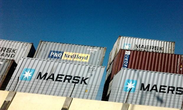 Containers at Karachi port. (Photo by Sheryaar Jivani, CC license)
