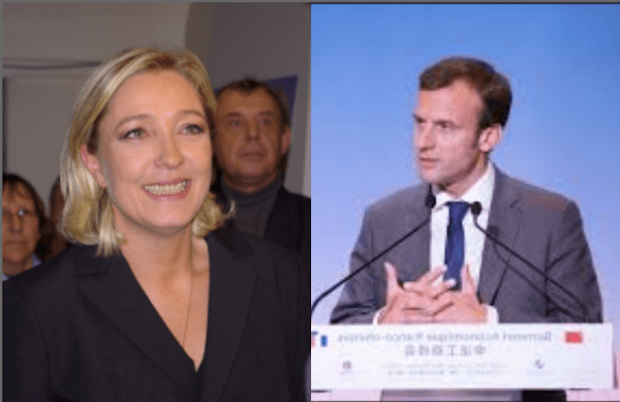 Centrist Emmanuel Macron and far-right Marine Le Pen will face off on May 7 in the second round of voting to determine who will be the next French president.