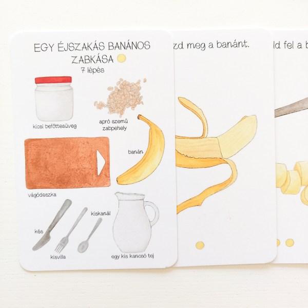 Egy éjszakás banános zabkása