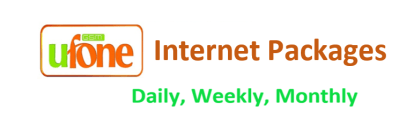 Ufone Internet Packages Daily Weekly Monthly