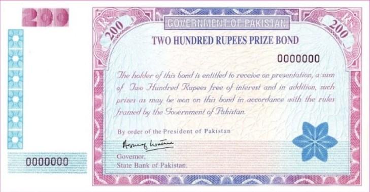 Prize Bond List 200