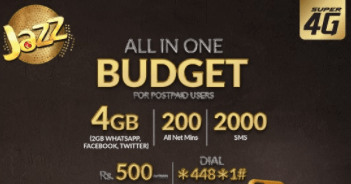 Jazz All in One Offer only for Postpaid Users