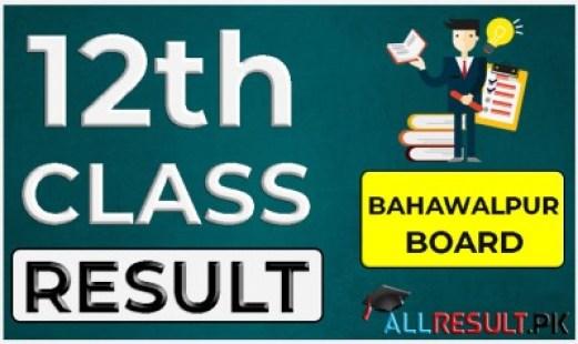 12th Class Result Bahawalpur Board
