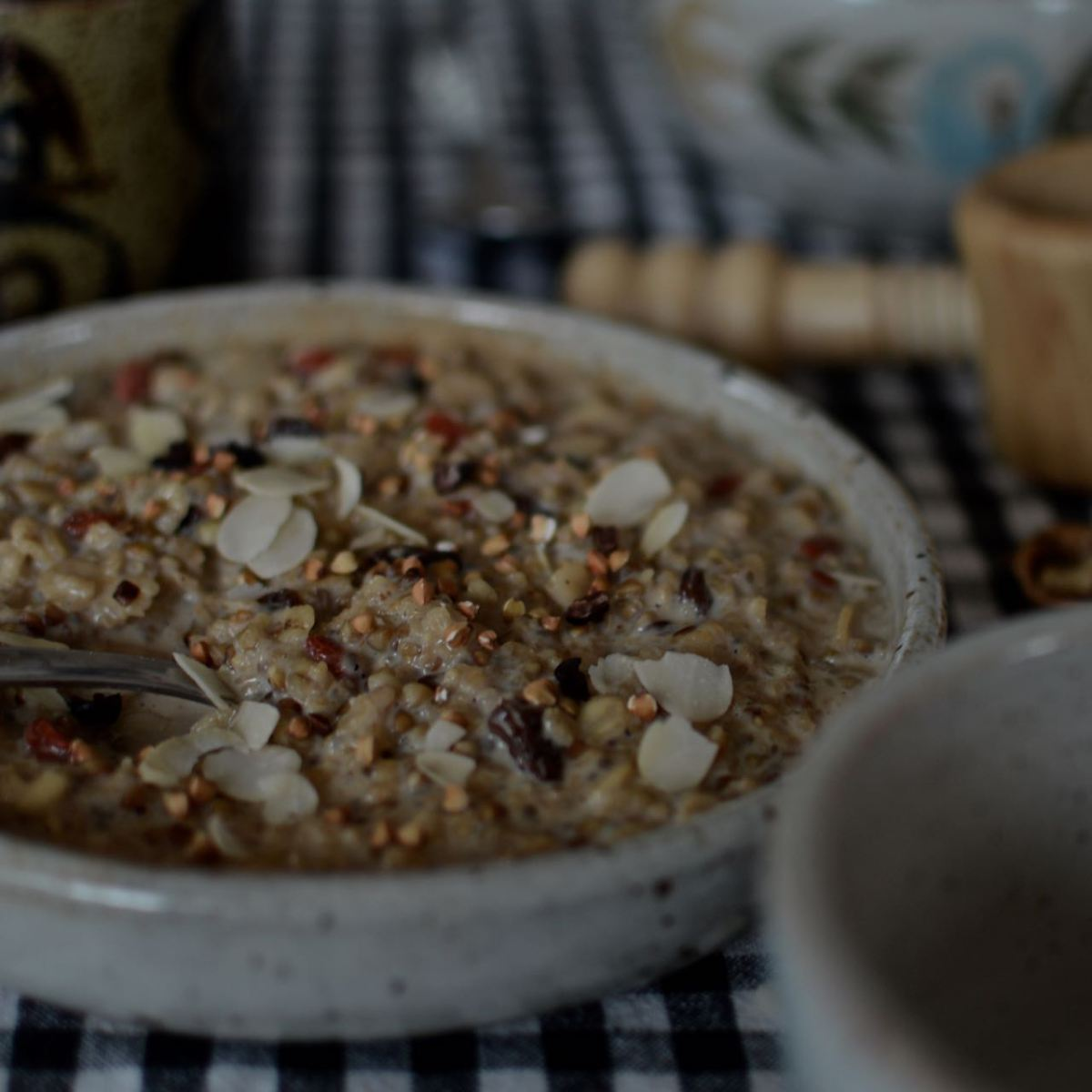Winter breakfast kasha - buckwheat porridge