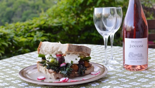 Easy vegetarian sandwich from early spring harvest