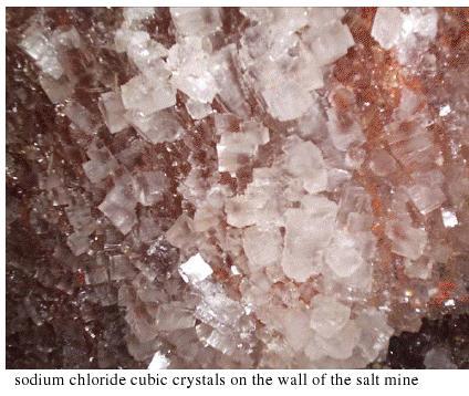 sodium chloride cubic crystals