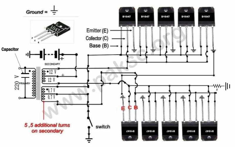 100 watt ups circuit diagram
