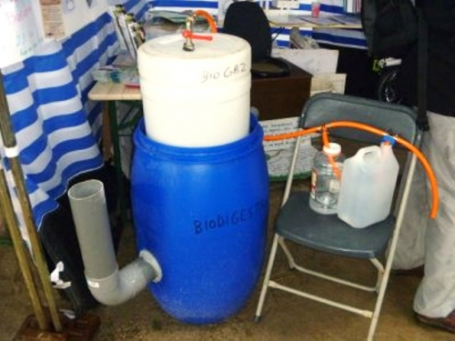 Biogas Plant by Recycled Plastic Drum