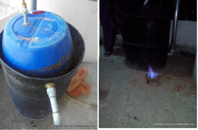Homemade portable Biogas Digester photos