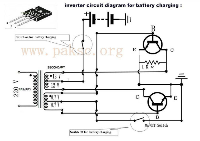 inverter circuit diagram for battery charging