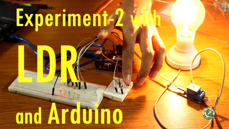 Build Automatic Night Light Control or Switch using Arduino