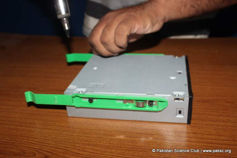 Take old CD -ROM Drive and open it