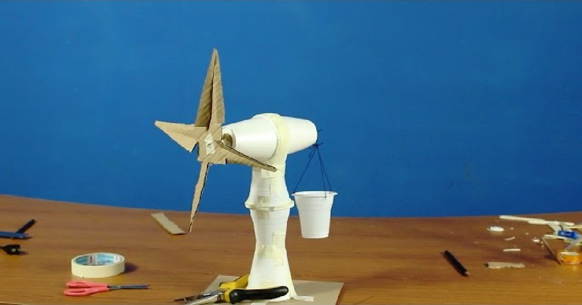 how to make working model of windmill for class 10