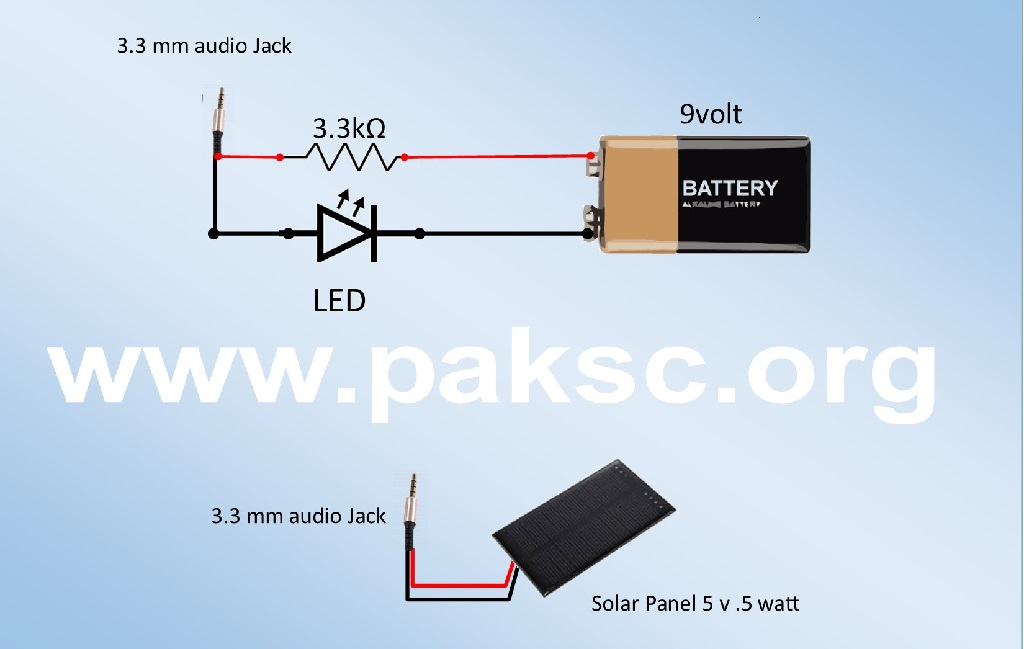 Circuit diagram Audio Light Transmitter