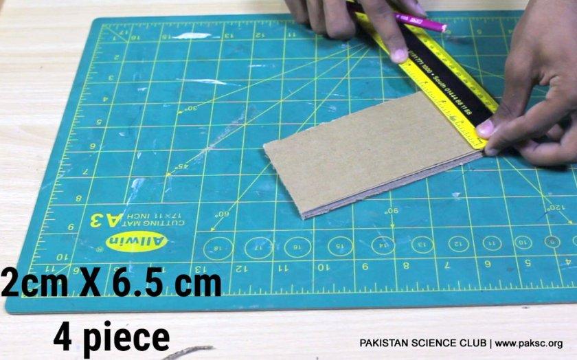 mark the 2x6,5cm 4 pieces