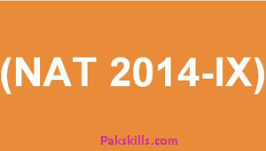 National Aptitude Test NAT 2014-lX