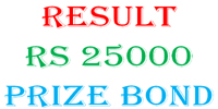 National Savings Prize Bond RS25000 Draw Full List