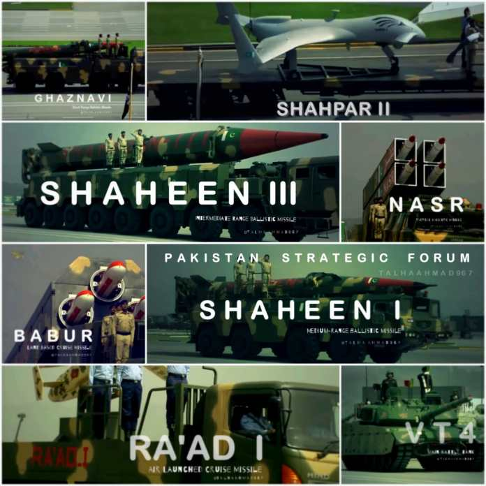 Predominant Weapons Systems of Pakistan Armed Forces at Pakistan Day Parade