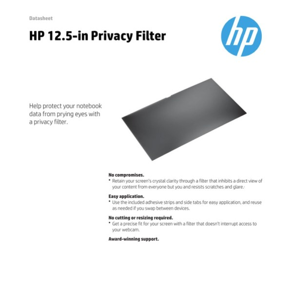 HP 12 privacy filter