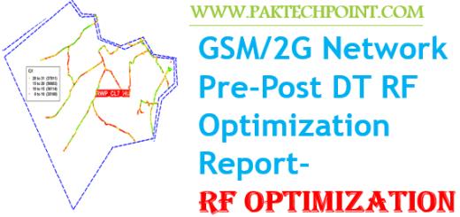 Network Pre-Post DT RF Optimization report
