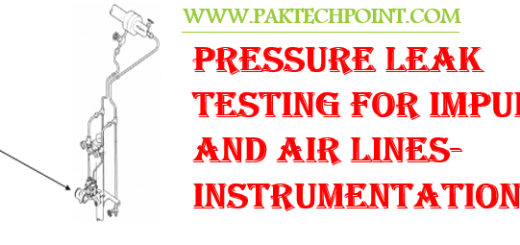 PRESSURE LEAK TEST OF CONTROL IMPULSE LINES