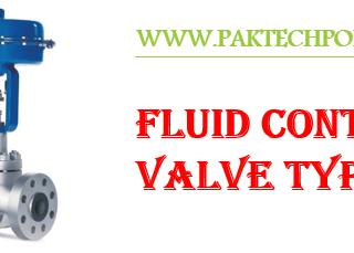 Fluid Control Valves Types