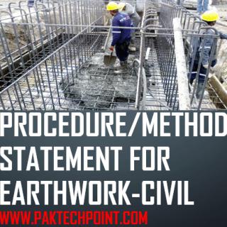 PROCEDURE/METHOD STATEMENT FOR EARTHWORK