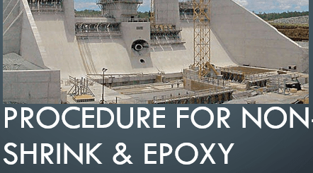Procedure for NON-SHRINK and EPOXY GROUTING WORKS