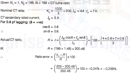 current transformer question answer