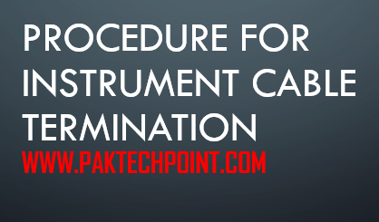 procedure for instrument cable termination
