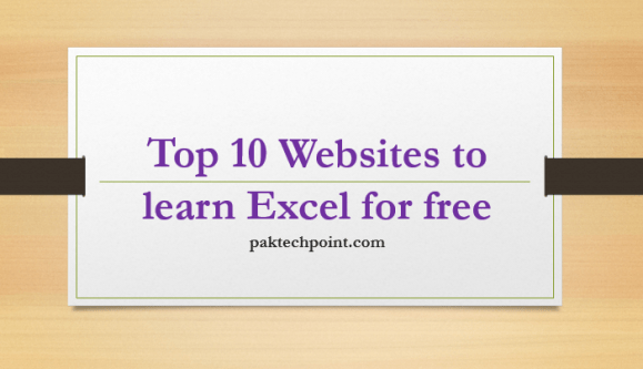 Top 10 Websites to learn Excel for free