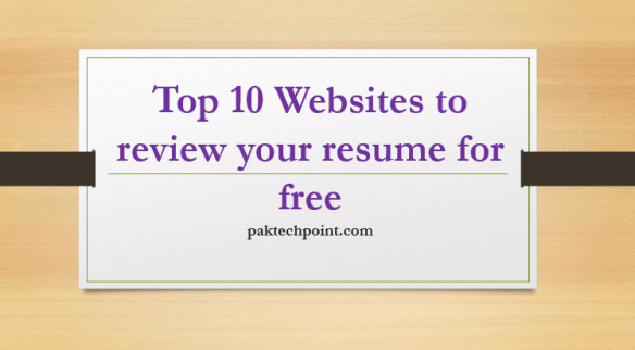 Top 10 Websites to review your resume for free
