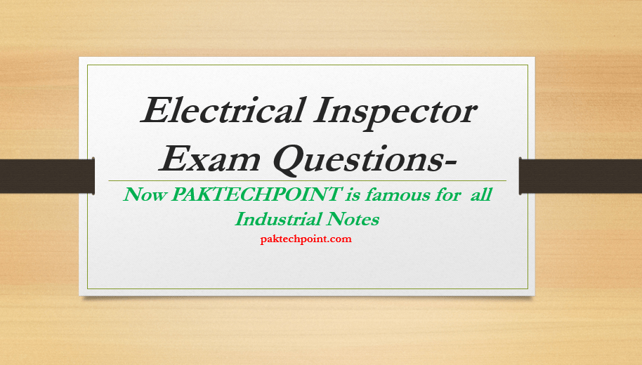 Electrical Inspector Exam Questions, electrical inspector certification test