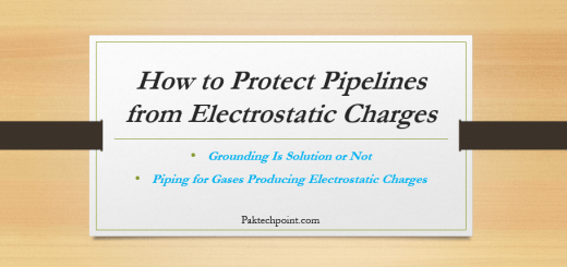 Piping for Gases Producing Electrostatic Charges